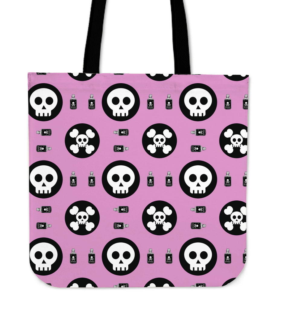 Skulls and Potion Canvas Tote Bag