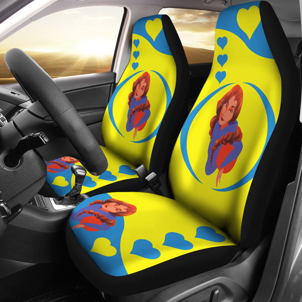 Sport-Club-Girl-01 Yellow and Blue Car Seat Covers