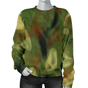 Abstract Camo Hidden Skulls women's Sweater