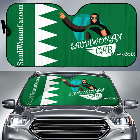 Image of Flag-Saudi-Green-001 Sunshade Auto Sun Shade