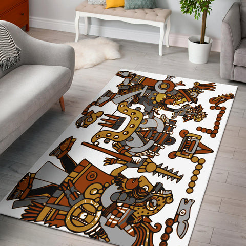 Aztec Warriors Area Rug