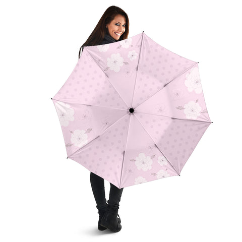 Pink-Flower-02 All Over Print Umbrellas