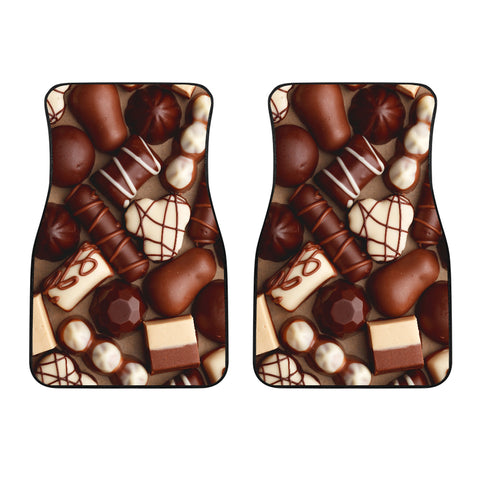 Image of Chocolate Lovers Front Car Mats (Set Of 2)