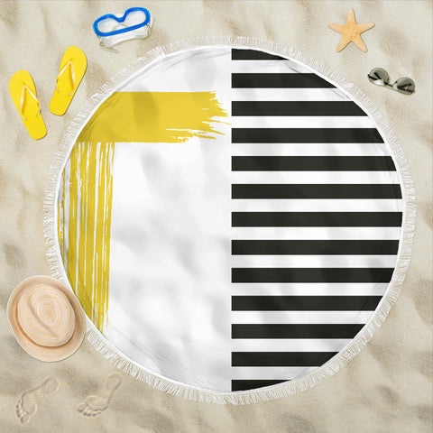 Image of Stripes-Design-03 Beach Blanket