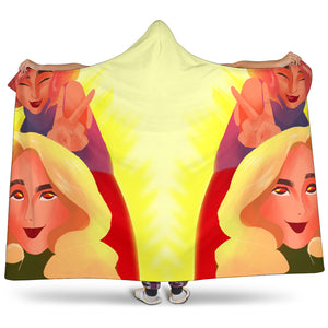 Yellow-Friends-01 Hooded Blanket