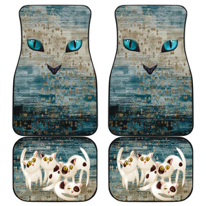 Cat eyes Front And Back Car Mats (Set of 4)