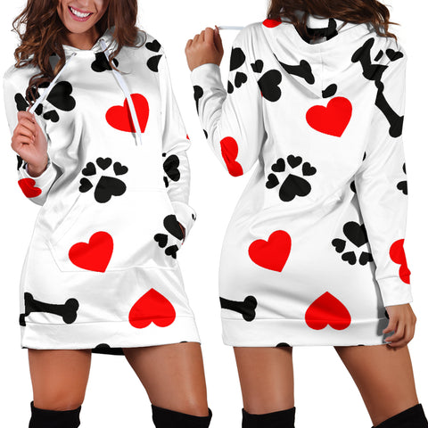 Image of Women's Dog Love Hoodie Dress
