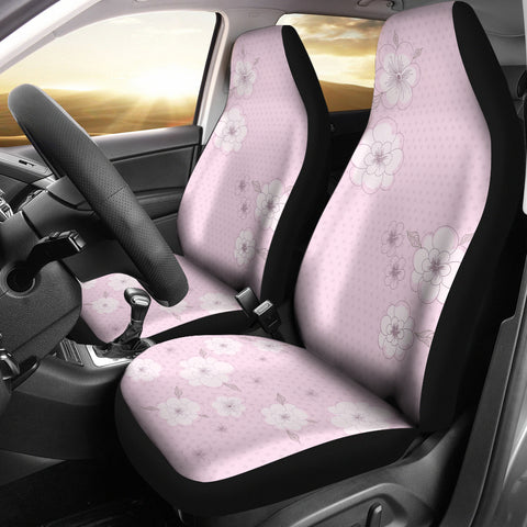 Image of Pink-Flower-02 Car Seat Cover
