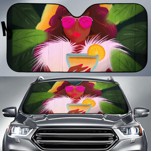 Lemon-Pink-01 Auto Sun Shades