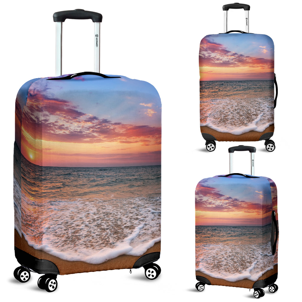Beach Sunset Luggage Cover