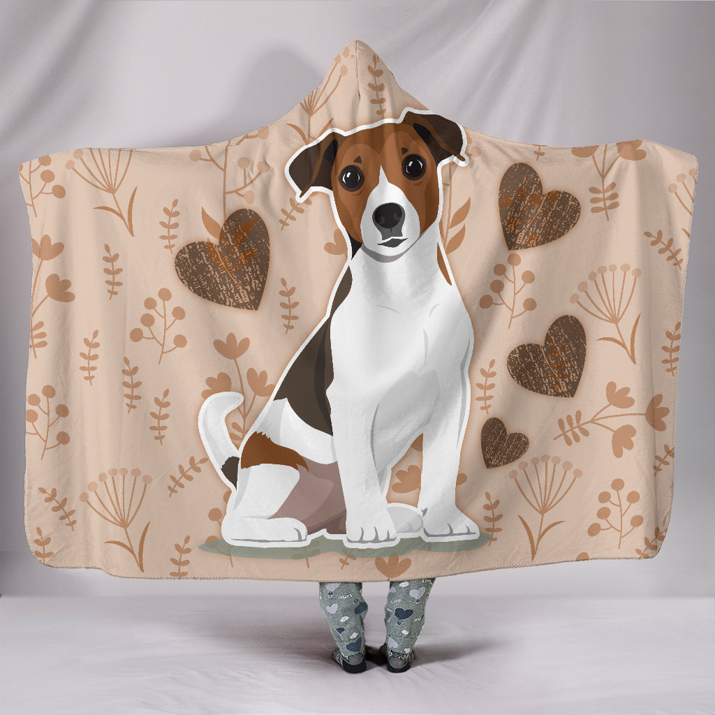 I Love Jack Russell Terriers Hooded Blanket for Lovers of Jack Russells