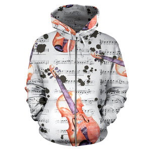 Guitar Lovers All Over Hoodie