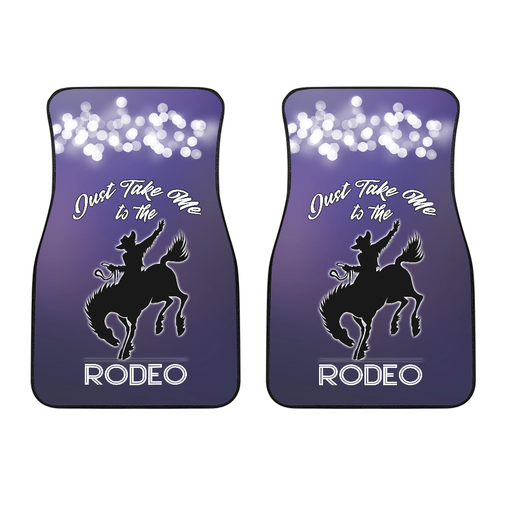 Take Me To The Rodeo Car Floor Mats (Set Of 2)