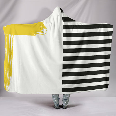 Image of Stripes-Design-03 Hooded Blanket
