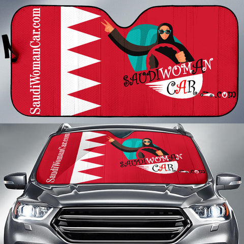 Image of Flag-Bahrain-Red-001 Sunshade Auto Sun Shade