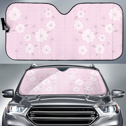 Image of Pink-Flower-02 Auto Sun Shades