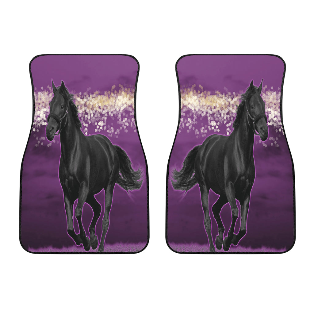 Horse Pink Night Car Floor Mats (Set Of 2)