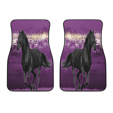 Image of Horse Pink Night Car Floor Mats (Set Of 2)