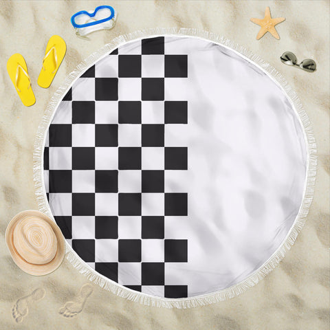 Car-Stripes-Design-02 Beach Blanket
