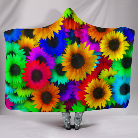 Image of Sunflowers Hooded Blanket