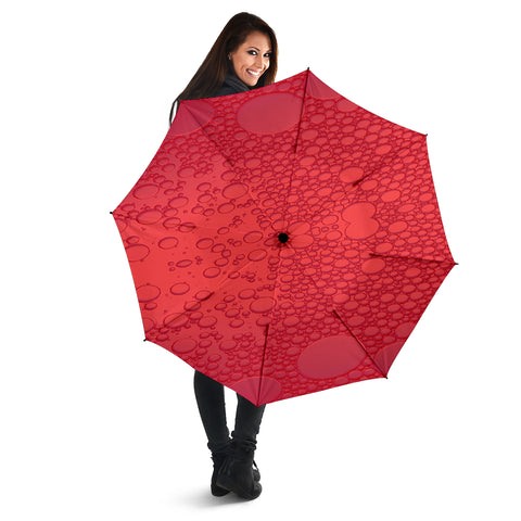 Red Raindrops Umbrella