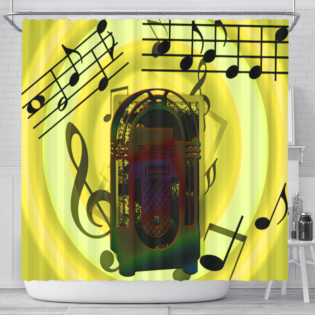Love Music Shower Curtain