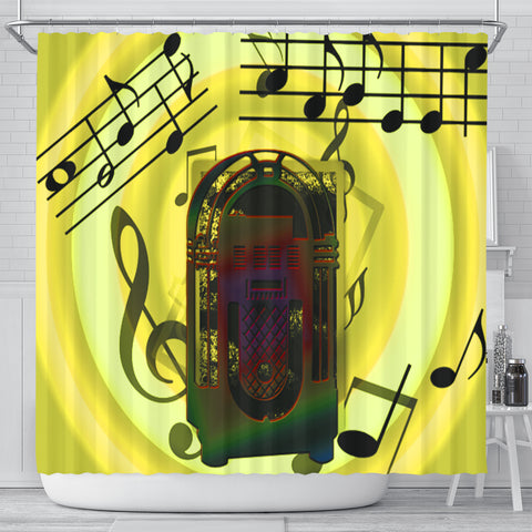 Image of Love Music Shower Curtain