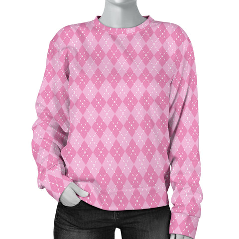 Image of Pink Argyle Women's Sweater