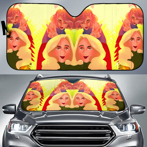 Image of Yellow-Friends-01 Auto Sun Shades