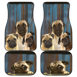 Pugg Auto Front And Back Car Mats (Set of 4)