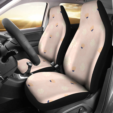 Peach-Flower-03 Car Seat Covers
