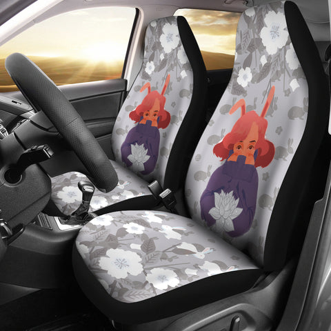 Bunny-Girl-Gray-01 Car Seat Covers