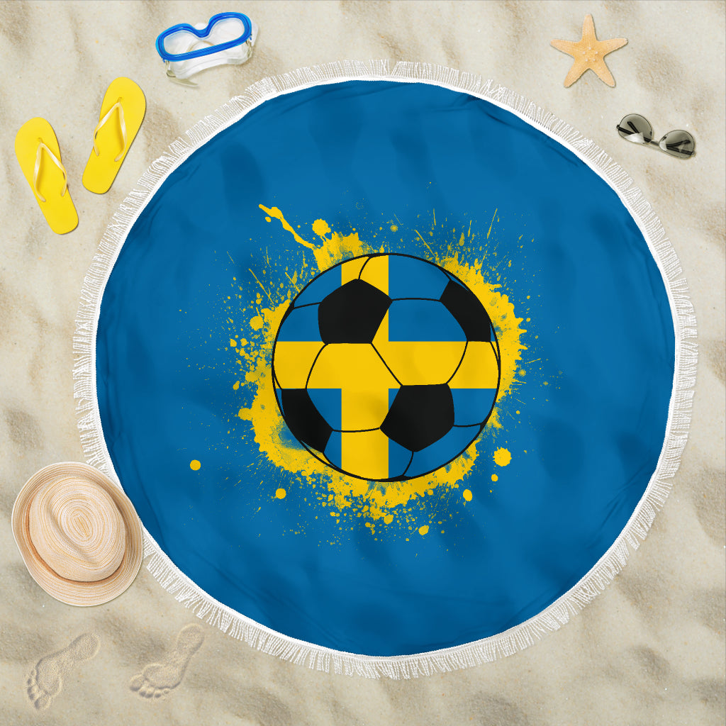 Sweden Soccer Beach Blanket