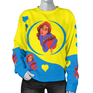 Sport-Club-Girl-01 Yellow and Blue Women's Sweater