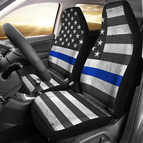 Image of USA Flag Car Seat Covers
