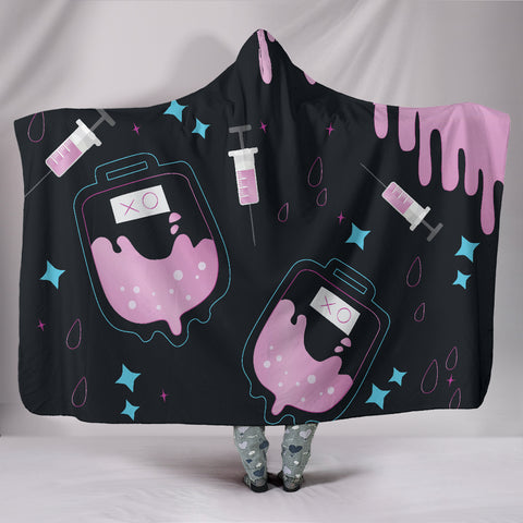 Image of Pink-Medic Hooded Blanket