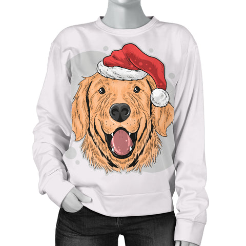 Image of Have A Golden Christmas Women's Sweater for Golden Retriever Dog Lovers