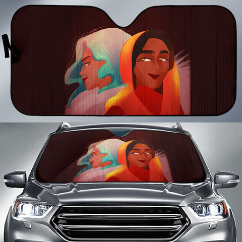 Image of Friends-Girl-01 Auto Sun Shades