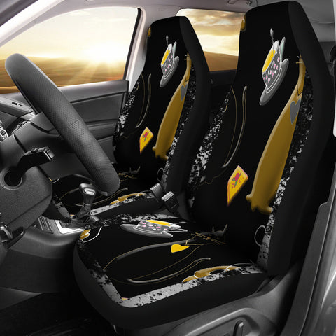 Image of Cats and Tea Car Seat Cover