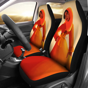 Orange-Girl-01 Car Seat Covers