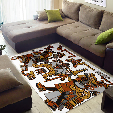 Image of Aztec Warriors Area Rug
