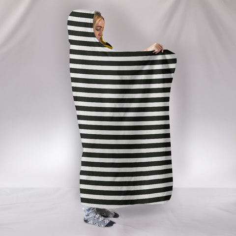 Image of Stripes-Design-01 Hooded Blanket
