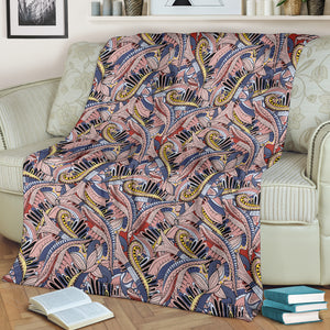 Funky Patterns in Pinks - Throw Blankets