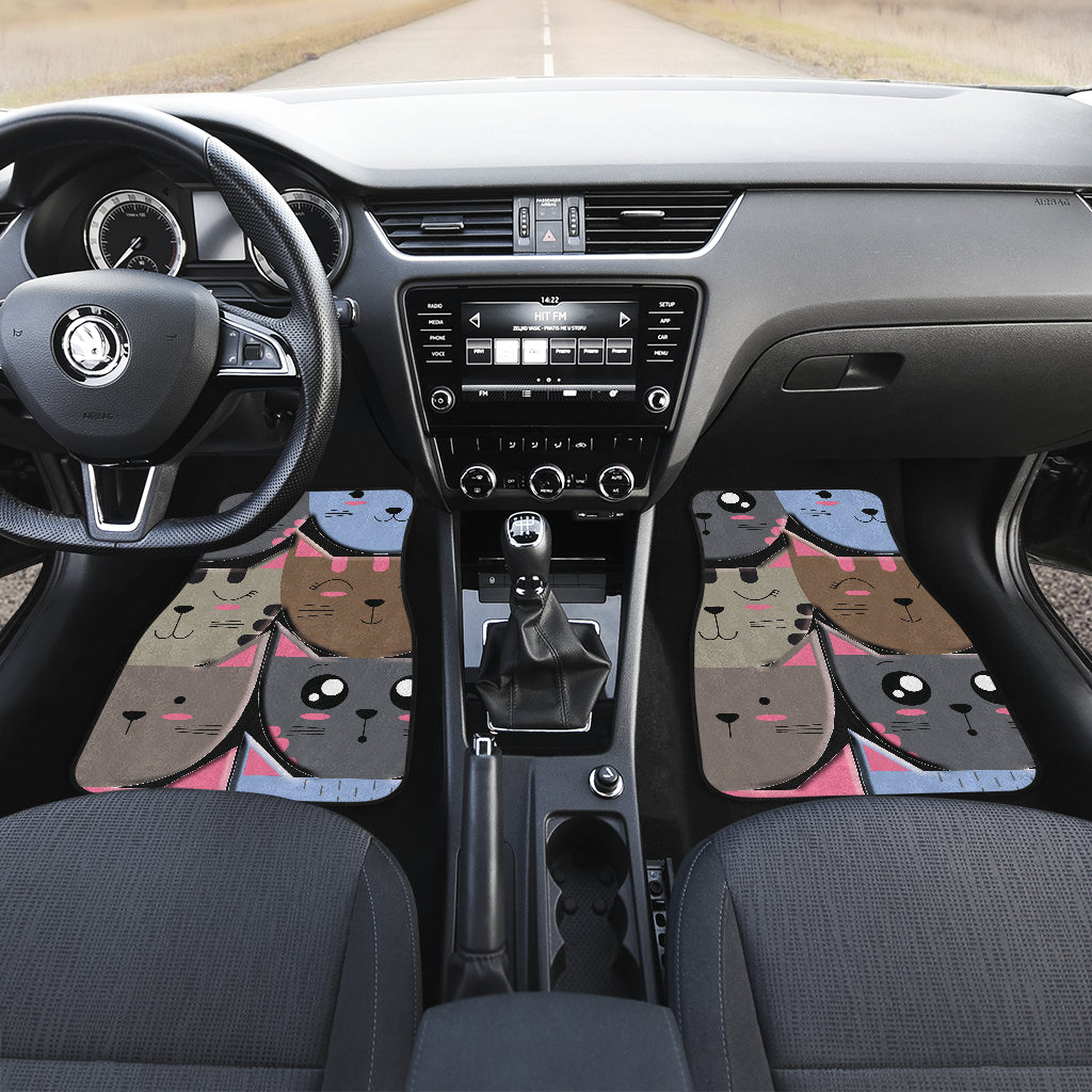 Girly cat Front And Back Car Mats (Set of 4)