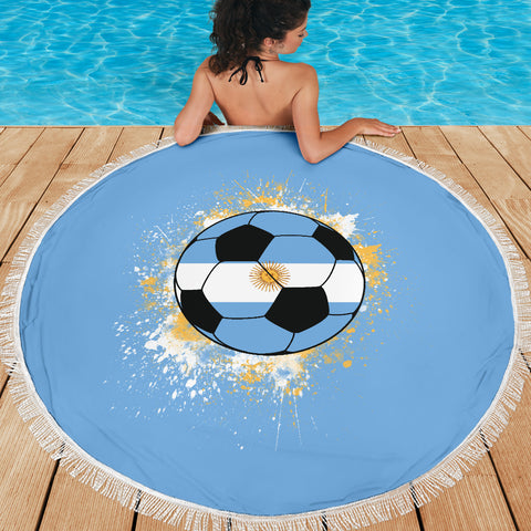 Image of Argentina Soccer Beach Blanket