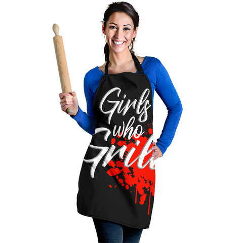 Image of Girls Who Grill Womens Apron