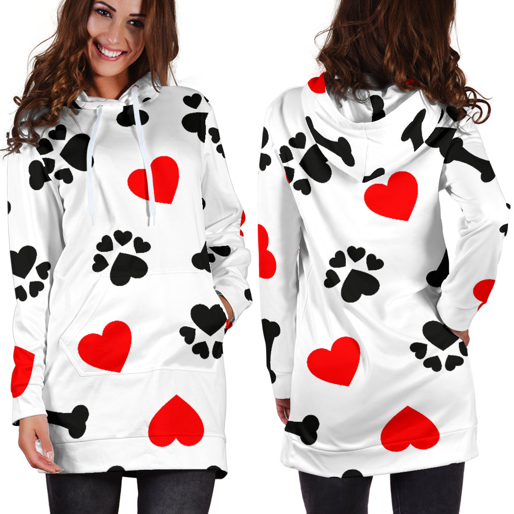Women's Dog Love Hoodie Dress