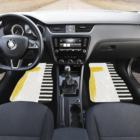 Image of Stripes-Design-03 Front And Back Car Mats (Set of 4)