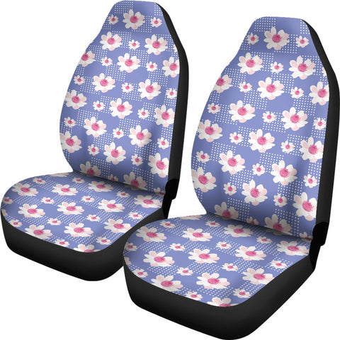 Image of Purple-Flower-01 Car Seat Covers