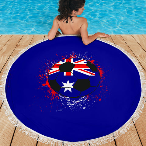 Image of Australia Soccer Beach Blanket